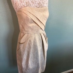 Gorgeous cream cocktail dress w/ pockets!!